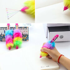Fashion Novelty Plush Fur Ball Pens School Office Stationery Gift Supply Hot New