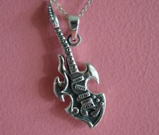 925 Sterling Silver Musical Electric Guitar Charm - Guitar Pendant ONLY