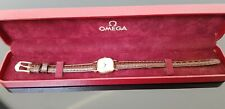 Omega Ladies 18ct Gold Watch on Leather Watch Strap in Omega Box.