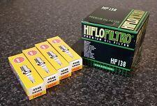 Oil Filter & Spark Plugs (HF138, 4 x CR9EK) Suzuki GSF600(S) S-K4 Bandit 95-04