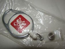 Vintage White and Red Peugot Keychain New