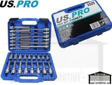 """US PRO Tools 30pc 1/2"""" dr Hex / Allen Bit Socket Set, Sockets NEW 3229"""