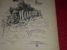 PARTITION CHANT-PIANO/ BARONNE WILLY DE ROTHSCHILD & VICTOR HUGO..rien à me dire