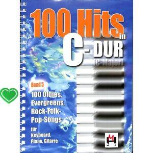 100 Hits in C-Dur Band 5 - Liederbuch - Noten für Keyboard/Klavier + Herzklammer