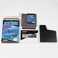 Silent Service NES Nintendo Retro Video Game 1989 CIB Box Manual