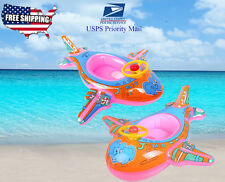 Airplane kids toddler inflatable float Raft Tube seat Ring Pool Party Floaties