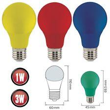 LED E27 Fassung Farbige Lampen Glühbirne Gelb Rot Grün Blau Leuchte 1w 3w Birne