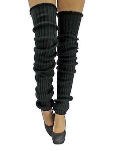SLOUCHY THIGH HIGH KNIT DANCE LEG WARMERS