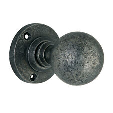 Pewter Door Knobs Hand Forged Iron with Pewter Finish