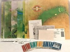 Vintage Classic 1985 Ultimate Golf Board Game Play The Best Courses - Complete!