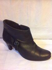 LASOCKI Black Ankle Leather Boots Size 40