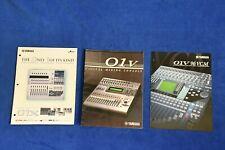 3 Original Color Brochures for Yamaha O1V, O1V96 VCM, O1X Great Condition