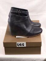 Women's NIB Uggs Australia Emalie Water Resistant Full Grain Leather Short Boot