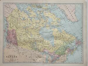 1874 MAP DOMINION OF CANADA BRITISH COLUMBIA MANITOBA QUEBEC ONTARIO NOVA SCOTIA