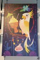 Disney Parks Wonderground TIKI SWEETIE Gigi Room Bird LE GICLEE CANVAS Laberis