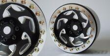 SSD RC 2.2 Champion Beadlock Wheels (Black / Silver) (2) SSD00234