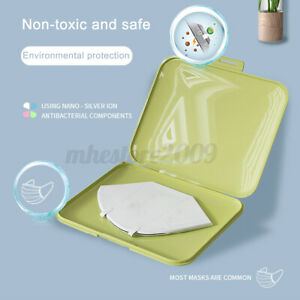 Antibacterial Portable Face Mask Storage Case Organizer Box Mask Cover