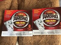 2 Pack AMDRO Kills Ants Killing Bait Stakes Outdoor / Indoor Destroys Colonies