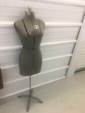 Acme Size A Vintage Adjustable Dress Form Mannequin Cast Iron Basestand