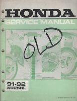 1991,1992 HONDA  MOTORCYCLE XR250L SERVICE MANUAL (107)