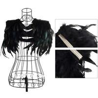 Women Shawl Collar Cape Wrap Feather Fringe Party Stylish Jazz Evening Creative