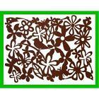 Set of 6 New Brown Flower Bird Rectangular Felt Placemats Tablemats Gift (FAST)