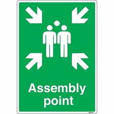 Assembly Point Sign - Fire and First Aid Signs (self-adhesive vinyl, A4)