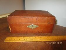 Antique brown Leather Jewellery box with lift out inner tray