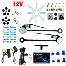 Universal 2 door Car electric power window Conversion kits with Switches DC12V