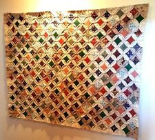 vintage Cathedral Window Quilt 3.5' x 5'