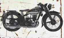 DKW Sport250 1936 Aged Vintage SIGN A4 Retro