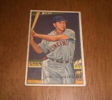 1952 BOWMAN BASEBALL CARD CINCINNATI REDS JOHNNY WYROSTEK #42