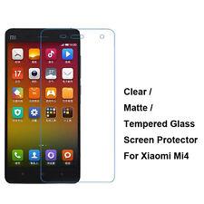 New Tempered Glass / Clear / Matte Film Guard Screen Protector For Xiaomi Mi4 M4