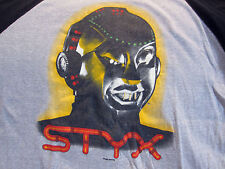 Original Vintage STYX Concert Shirt Size XL 1983 Kilroy Was Here True Vtg Shirt