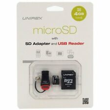 Unirex 4GB Micro SD Card with USB Reader and SD Adaptor | MSU-042