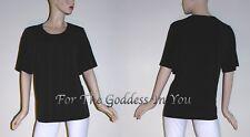 T261 BLACK MAGGIE BARNS SMOCKED NECKLINE CLASSY TOP WOMENS PLUS - OX = XL 14/16