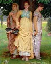 Girls Regency Dress Art - A Summer Shower by Charles E Perugini 8x10 Print 0403
