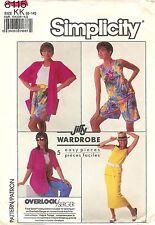 1987 Simplicity Pattern # 8115 Pull-On Skirt Pants & Shorts Jacket Size 8-14