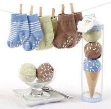 Baby Aspen Sweet Feet Three Scoops Of Socks 0-6 Months Green, Brown & Blue, NIB