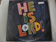 """HE IS LORD A """"SING-A-LONG"""" BY THE TEMPO SINGERS DOUBLE VINYL LP 1974 TEMPO REC."""