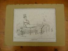 ORIGINAL, ANTIQUE 1831 'HB'  SATIRICAL LITHOGRAPHIC PRINT, HB LITHOGRAPH.