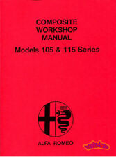 Shop Manual Alfa Romeo Service Repair Book Spider Gtv 2000 1750 Giulia 105 1300