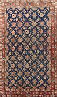 Antique Floral Najafabad All-Over Area Rug Hand-knotted Oriental 3'x5' Carpet