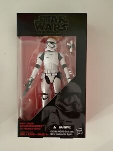 Star Wars The Black Series 6 Inch First Order Stormtrooper 04 New Sealed