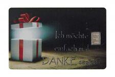 Geschenkkarte Motivkarte Silberbarren 999er Silber 1g Gramm Danke Dankeschön