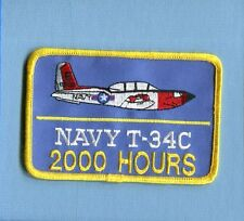 BEECHCRAFT T-34 C MENTOR 2000 FLIGHT HOURS US NAVY USMC TRAINING SQUADRON PATCH