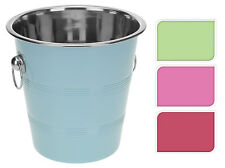 Coloured Stainless Steel Ice Bucket Wine Cooler Champagne Cooler - 4 Colours