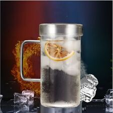 20 oz Heat Resistant Glass Tea & Coffee/juice cup with glass lid 600ml capacity