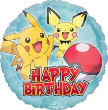 Pokemon Pikachu Core Happy Birthday 18 Inch Round Foil Mylar Balloon 1 Count