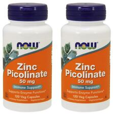 Zinc Picolinate Veg 120 Capsules by NOW Foods (2 PACK) **Free Shipping**